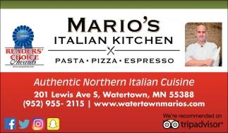 Authentic Northern Italian Cuisine