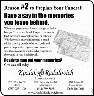 Reason #2 to Preplan Your Funeral