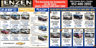 Falling Prices On Quality Used Vehicles at Lenzen Chevy-Buick