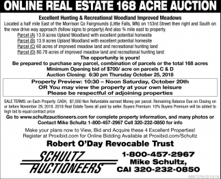 Online Real Estate 168 Acre Auction