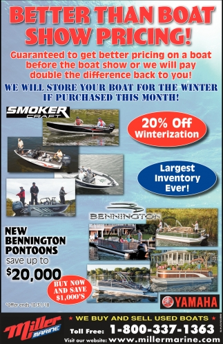 Better than Boat Show Pricing!