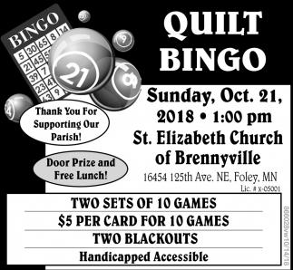 Quilt bingo