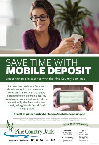 Save Time with Mobile Deposit