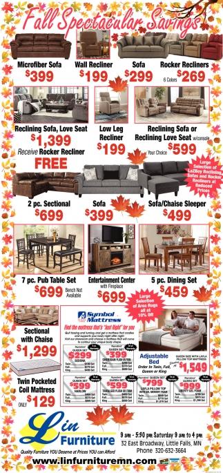 Fall Spectacular Savings