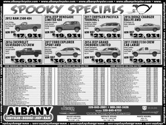 Spooky Specials