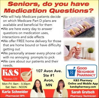 Seniors, Do You have Medication Questions?