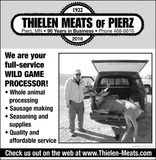 We are Your Full-Service Wild Game Processor