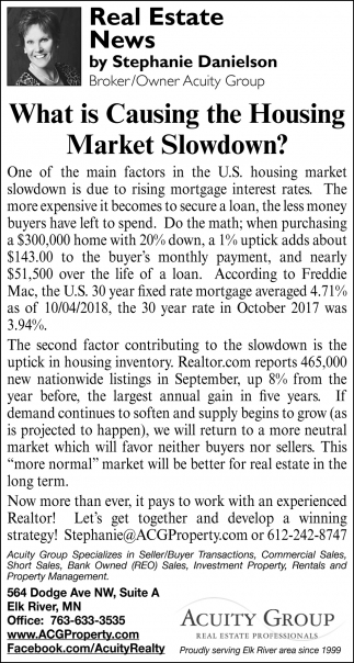 Wha is Causing the Housing Market Slowdown?