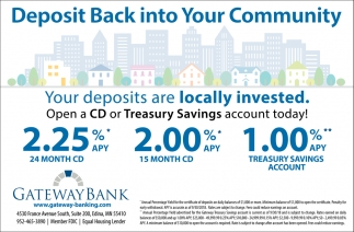 Deposit Back into Your Community