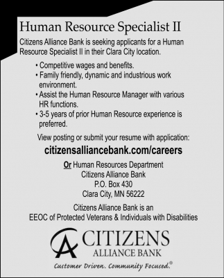 Human Resource Specialist II