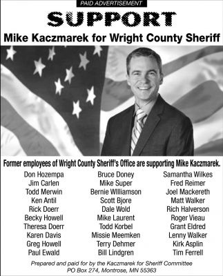 Support Mike Kaczmarek for Wright County Sheriff