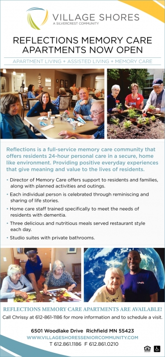 Reflections Memory Care Apartments Now Open