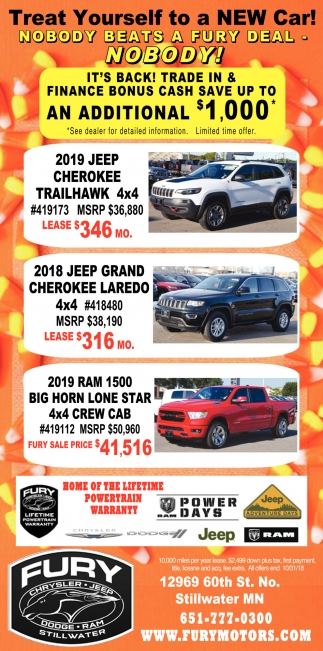 Treat Yourself to a New Car!