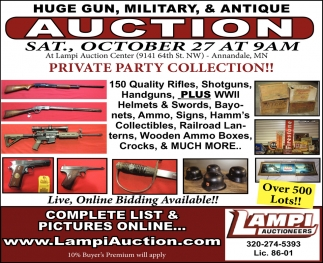 Huge Gun, Military, & Antique Auction