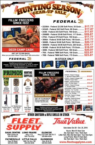Hunting Season Gear-up Sale