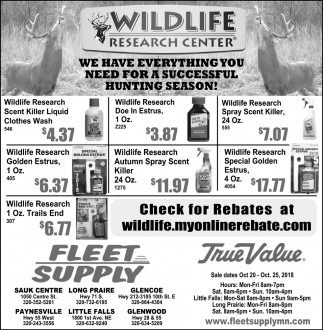 We have Everything You Need for a Successful Hunting Season!