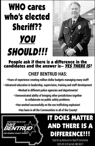 Dave Bentrud for Stearns County Sheriff
