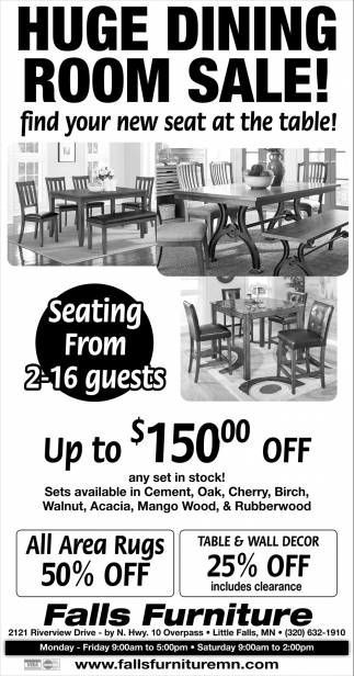 Huge Dining Room Sale!
