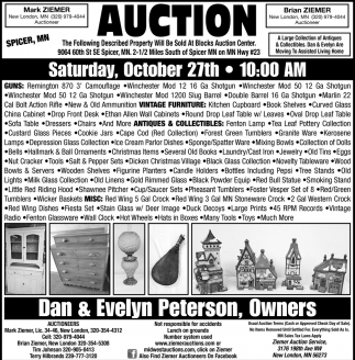 Auction Saturday, October 27th
