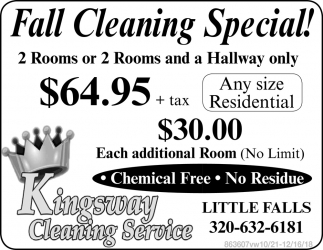 Fall Cleaning Special!