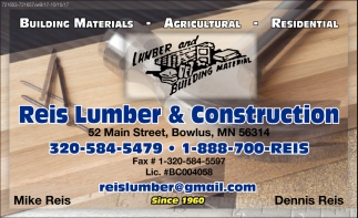 Building Materials, Agricultural & Residential