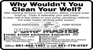 Why wouldn't You Clean Your Well?