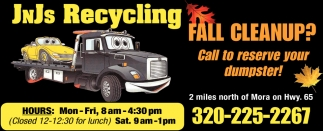 Call to Reserve Your Dumpster!