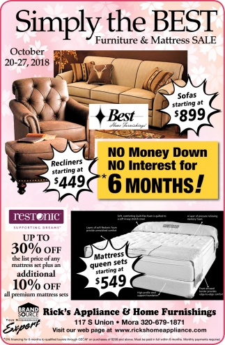 Simply the Best Furniture & Mattress Sale