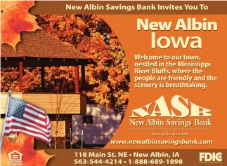 New Albin Savings Bank Invites You to New Albin Iowa