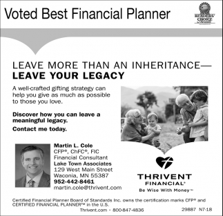 Voted Best Financial Planner