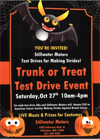 Trunk or Treat Test Drive Event