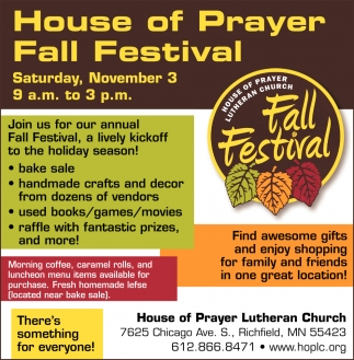 House of Prayer Fall Festival
