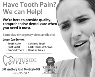 Have Tooth Pain?