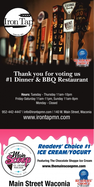 Thank You for Voting us #1 Dinner & BBQ Restaurant