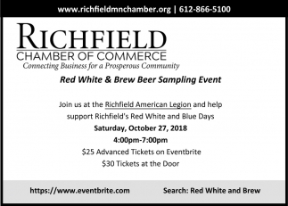 Red White & Brew Beer Sampling Event