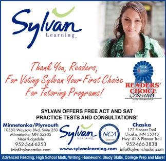 Thank You, Readers, for Voting Sylvan Your First Choice for Tutoring Programs