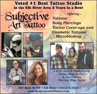 Voted #1 Best Tattoo Studio