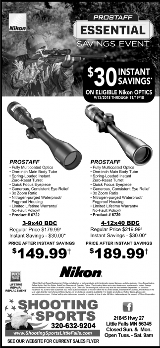 Prostaff Essential Savings Event