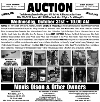 Auction Wednesday, October 31st