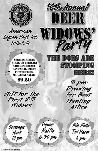 10th Annual Deer Widows' Party