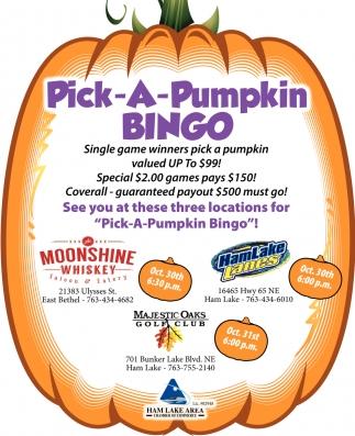 Pick-A-Pumpkin Bingo
