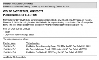 Public Notice of Election