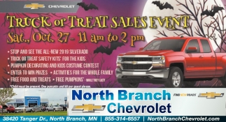 Truck or Treat Sales Event