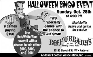 Halloween Bingo Event