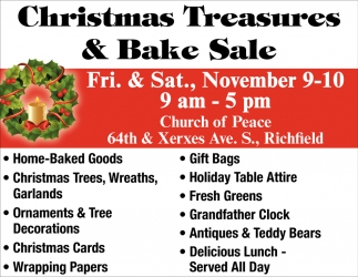 Christmas Treasures & Bake Sale