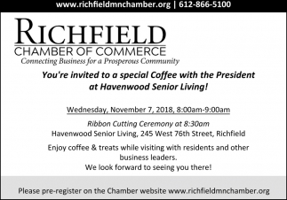 You're Invited to a Special Coffee with the President at Havenwood Senior Living!
