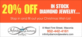 20% OFF in Stock Diamond Jewelry