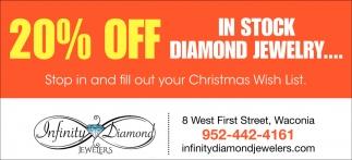 20% OFF in Stock Diamond Jewelry