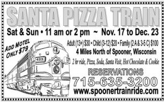 Santa Pizza Train