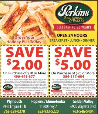 Open 24 Hours Perkins Restaurant Bakery
